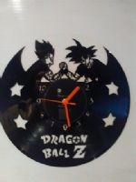 Dragon Ball Z Goku and Vegeta Vinyl Record Clock