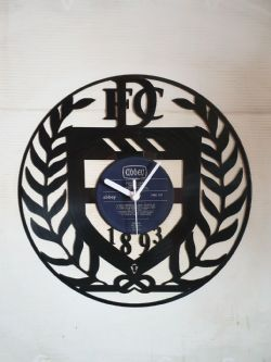 Dundee FC Badge Themed Vinyl Record Clock