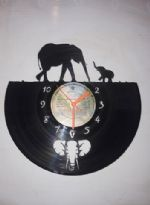 Elephants 3 Vinyl Record Clock
