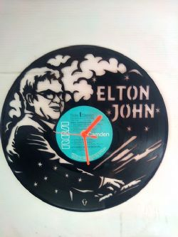 Elton John Themed Vinyl Record Clock