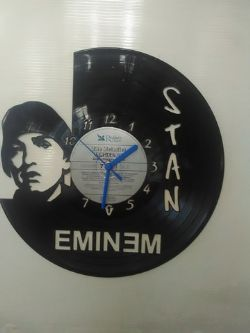Eminem Stan Themed Vinyl Record Clock
