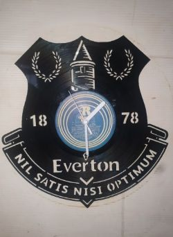 Everton F.C Badge Themed Vinyl Record Clock