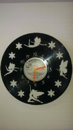 Fairies Vinyl Record Clock