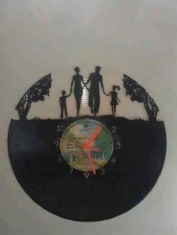 Family together Vinyl Record Clock