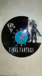 Final Fantasy Vinyl Record Clock
