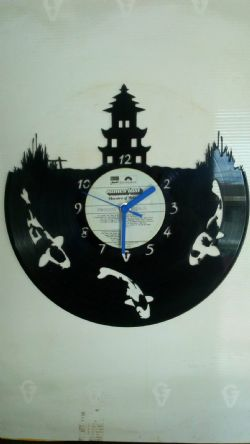 Three Fish Vinyl Record Clock