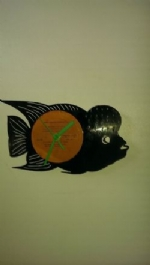 Flower Horn Fish Vinyl Record Clock