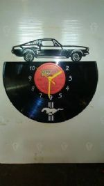 Ford Mustang Car Vinyl Record Clock