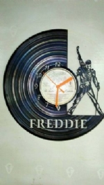 Freddie Mercury Side Vinyl Record Clock