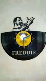 Freddie Mercury Top Vinyl Record Clock