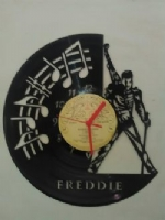 Freddie Mercury Music Notes Themed Vinyl Record Clock