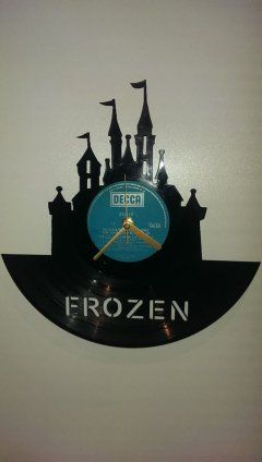 Frozen Castle Themed Vinyl Clock