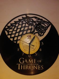 Game Of Thrones Vinyl Record Clock
