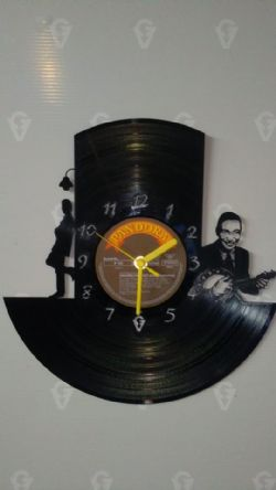 George Formby Vinyl Record Clock