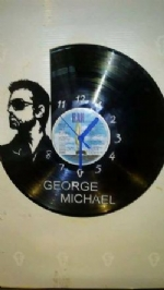 George Michael Vinyl Record Clock