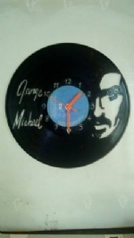 George Michael Face Vinyl Record Clock