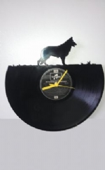 German Shepherd Themed Vinyl Record Clock