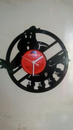 Ghost Busters Vinyl Record Clock