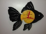 Goldfish Vinyl Record Clock