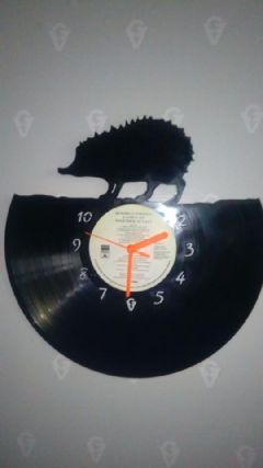 Hedgehog Vinyl Record Clock