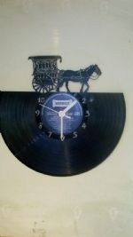 Horse and Gypsy Cart Vinyl Record Clock
