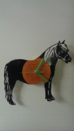 Horse Full Vinyl Record Clock