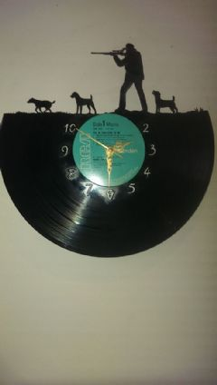 Jack Russell Hunting Dogs Vinyl Record Clock