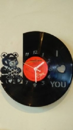 'I Love You' Custom Vinyl Record Clock