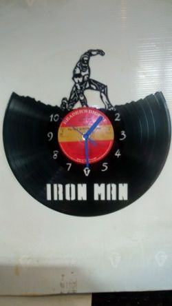 Iron Man Marvel Superhero Themed Vinyl Record Clock