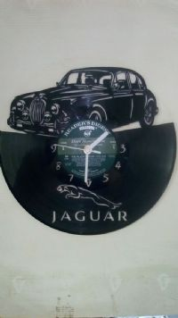 Jaguar MK2 Classic Car Vinyl Record Clock