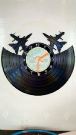 Double Jet Vinyl Record Clock