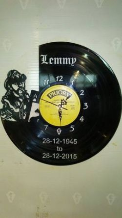 Lemmy Side Vinyl Record Clock