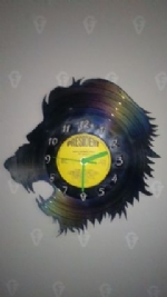 Lions Head Vinyl Record Clock