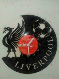 Liverpool Fc Football Badge Themed Vinyl Record Clock