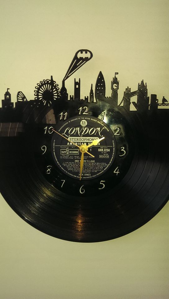 Batman In London Superhero's Vinyl Record Clock