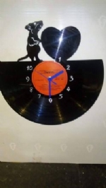 Love Mouse Vinyl Record Clock