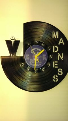 Madness Vinyl Record Clock