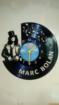 Marc Bolan Music Vinyl Record Clock