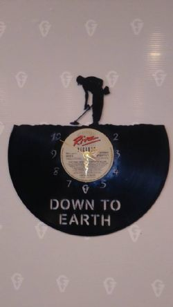 Metal Detecting Vinyl Record Clock