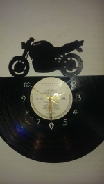 Bandit Motor Bike Vinyl Record Clock