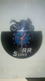 BMW RR S1000 Motor Bike Vinyl Record Clock