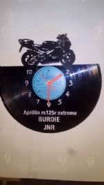 Aprilia RS125 Vinyl Record Clock