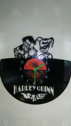 Joker and Harely Quinn Vinyl Record Clock