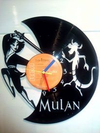 Mulan Disney Themed Vinyl Record Clock