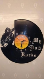 'My Dad Rocks' Custom Vinyl Record Clock