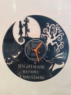 Nightmare Before Christmas Scene Themed Vinyl Record Clock