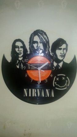 Nirvana Vinyl Record Clock