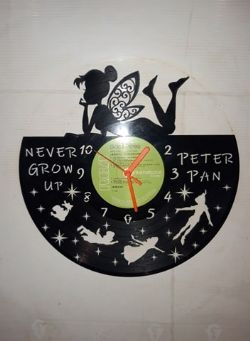 Peter Pan And Friends Themed Vinyl Record Clock