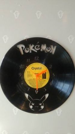 Pokemon Pikachu Vinyl Record Clock