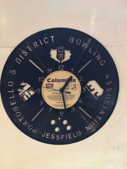 Portobello and District Bowling Team Themed Vinyl Record Clock